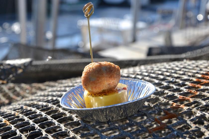 le fameux bonbon d'huître d'Emmanuel Gonccalves.  Photo sophie Juby