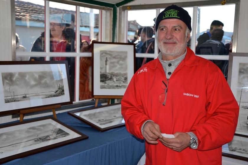 Serge Roubichou & ses vues du Bassin d'arcachon Photo sophie Juby