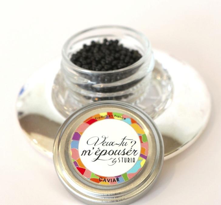 Une idée du caviar Sturia.