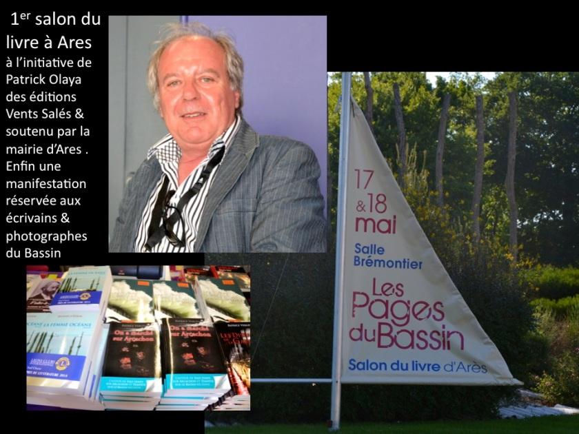 Salon du livre d'Ares. Patrick Olaya. Photo sopihe Juby