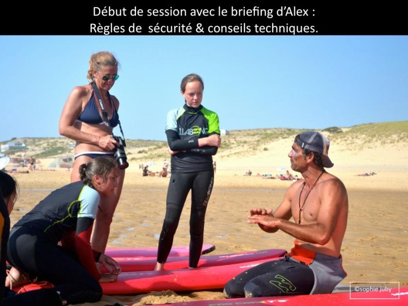 briefing avec Alex Cap Ferret