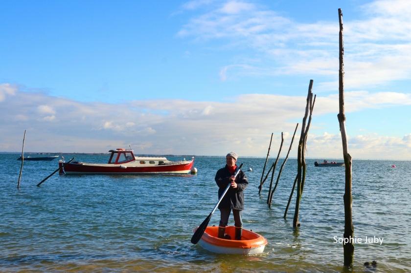 Standing paddle sur annexe: la grande classe Jean -Jacques